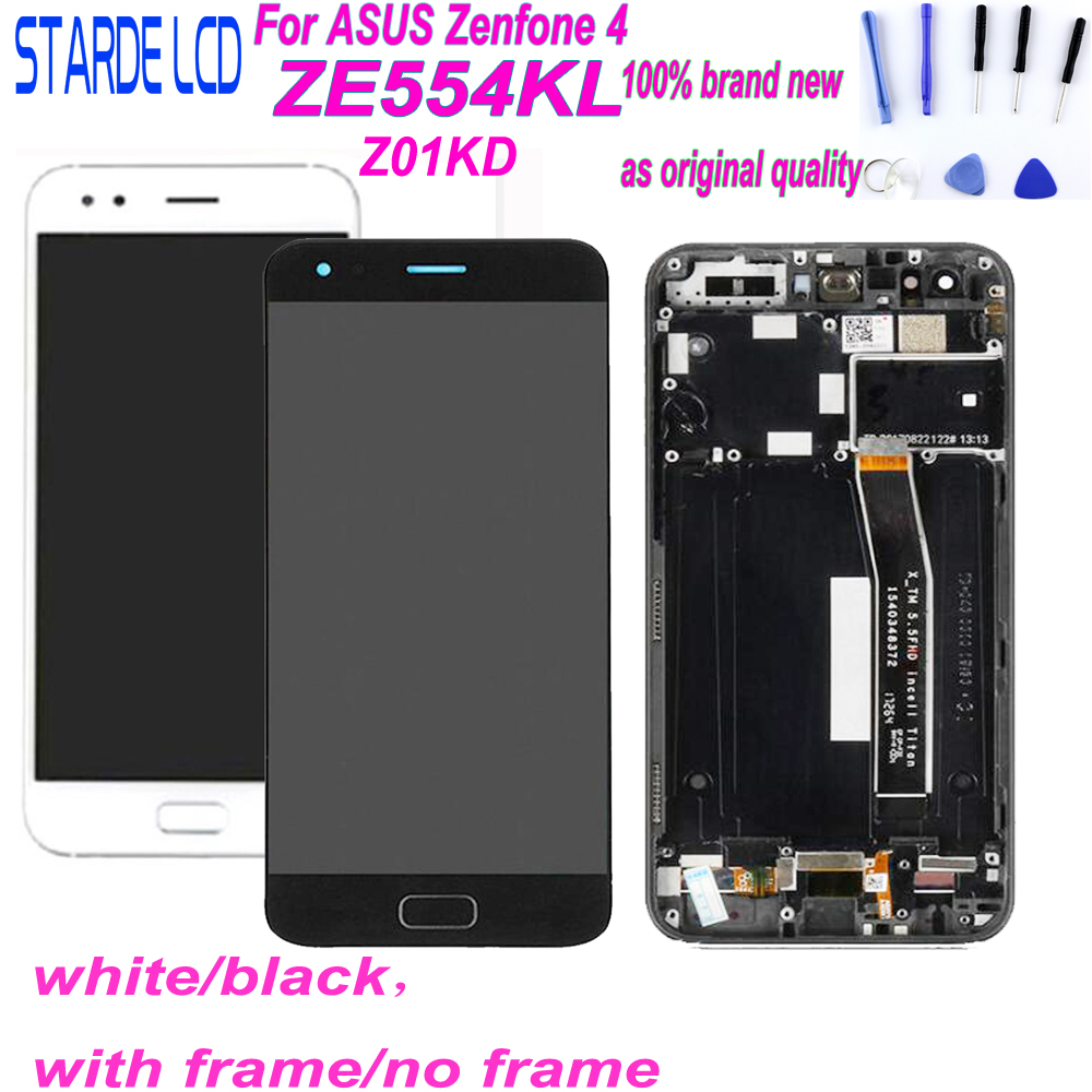 Starde LCD 5.5'' For ASUS Zenfone 4 ZE554KL Z01KD LCD Display Touch Screen Digitizer Assembly Parts With Frame And Free Tools