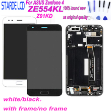 Starde LCD 5.5'' for ASUS Zenfone 4 ZE554KL Z01KD LCD Display Touch Screen Digitizer Assembly Parts with Frame and Free Tools new arrival and good quality for highscreen zera f rev s lcd display touch screen assembly with frame free shipping and tracking