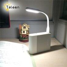Led-Light Power-Bank TSLEEN Flashlight/hub-Charger Mini DC for Desk USB 5V Flexible-Neck