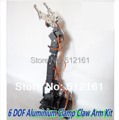 Complete Kit Robot 6 DOF Arm Clamp Claw Mount & 6 x Servo Metal for Arduino stearns 0924 re arm kit