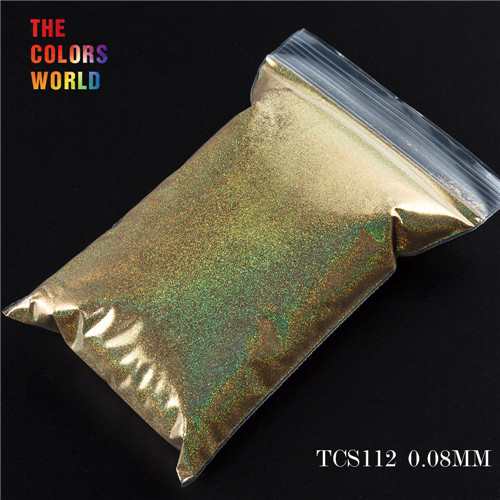 TCT-070 голографическая цветная устойчивая к растворению блестящая пудра для дизайна ногтей Гель-лак для ногтей тени для макияжа - Цвет: TCS112  50g