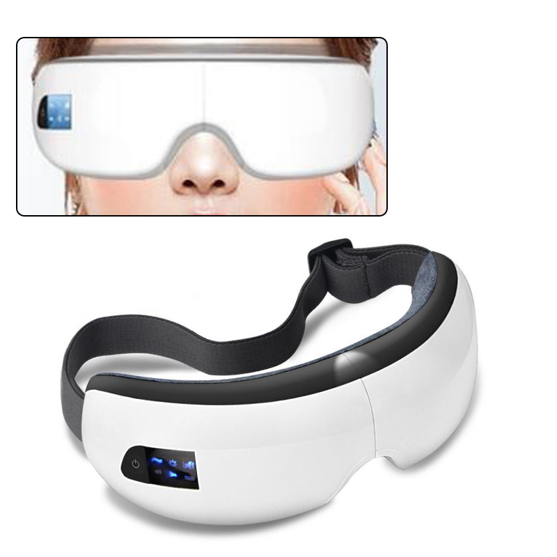 Eye Care ,Wireless Digital Eye Massager with Heat Compression Air Pressure Music & Eye Care Stress Relief goggles free shipping new air pressure eye massager with mp3 6 functions dispel eye bags eye magnetic far infrared heating eye care