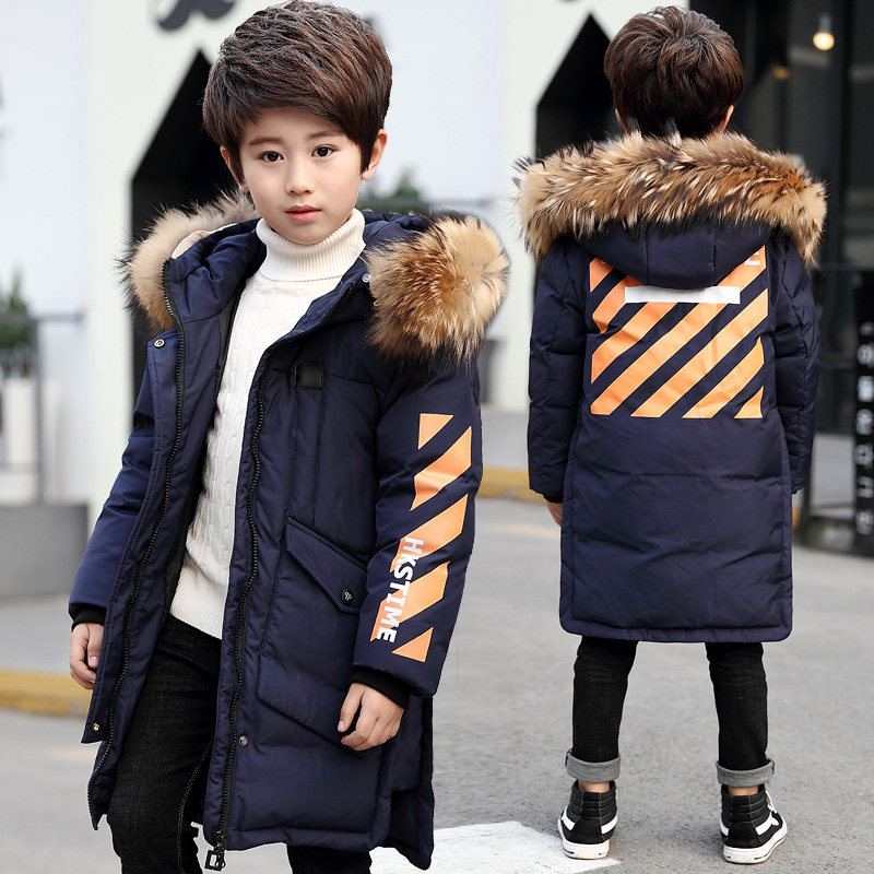 -20 Degree High Quality New Boys clothing Long winter Down jacket with for boys Parka Kids Clothes Youth Children Fur hood Coat-20 Degree High Quality New Boys clothing Long winter Down jacket with for boys Parka Kids Clothes Youth Children Fur hood Coat