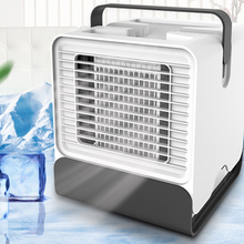 Mini Portable Air Conditioner Fan USB Desktop Air Cooler Office Dormitory Cooling Mobile Fan with LED Lights for Office Home