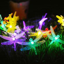 Outdoor LED solar garden light 6.5m 30led for Christmas tree party Holiday Decoration Dragonfly String Lights 8 Modes Fairy Lamp 2m 20 led solar solar led string light mason jar lid lamp xmas outdoor garden decor christmas holiday decoration lamp 1567