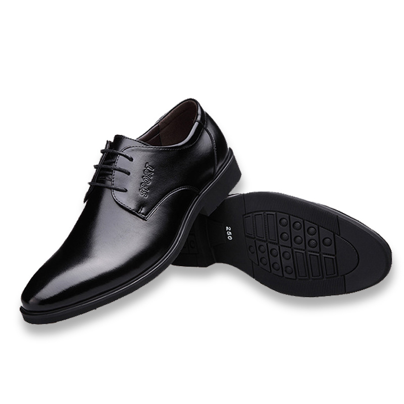 DTYNZ Men Dress Shoes Formal Leather Shoes Breathable Linning New 2018 Autumn Business Lace-Up Footwear Zapatos Hombre Vestir