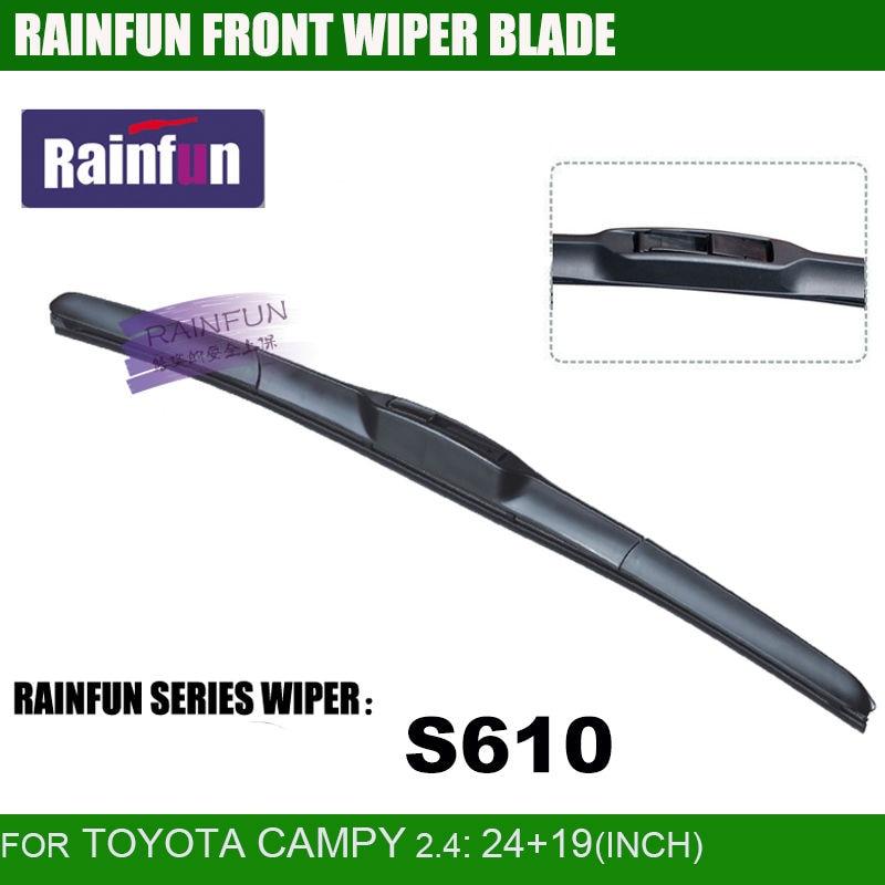 RAINFUN специальный автомобиль стеклоочистителя для TOYOTA CAMPY 2,4, 24+ 19 дюймов автоматический стеклоочиститель с высоким качеством натурального каучука, 2 шт в партии