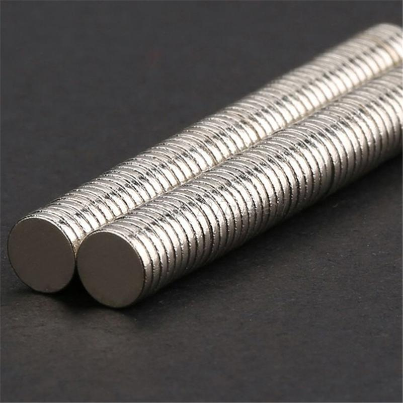 100 pcs Disc Rare Earth Neodymium Super Strong Magnets N35 Craft Mode HH1