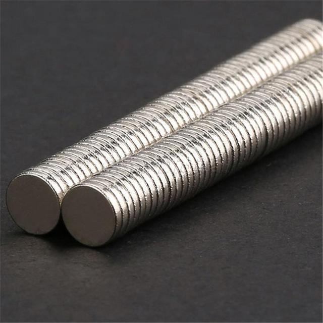 100 pcs Disc Rare Earth Neodymium Super Strong Magnets N35 Craft Mode HH1