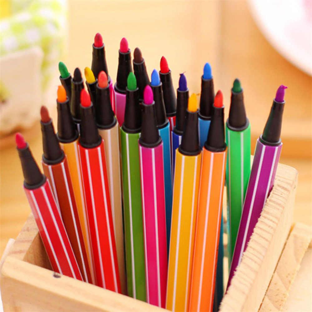 ZTOYL 1Set 12 Colori Acquerello Lavabile Marcatore Pittura Penna Per Bambini Kids Art Giocattoli Educativi Giochi di disegno