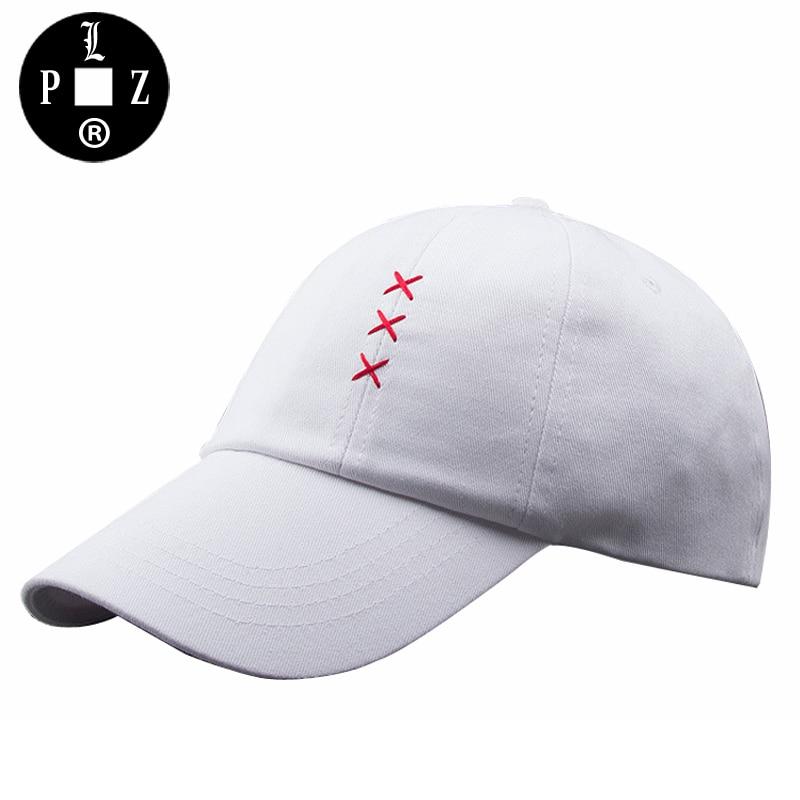 PLZ Men Baseball Cap Hat With Rings Trible X Embroidery Sun Hats Fashion Harajuku Korean Style Black Hats casquette gorras gorro