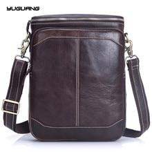 Genuine Leather Men Bags Classic Male flap bag Shoulder Crossbody bags tote Handbags Man Fashion men's Messenger Bag
