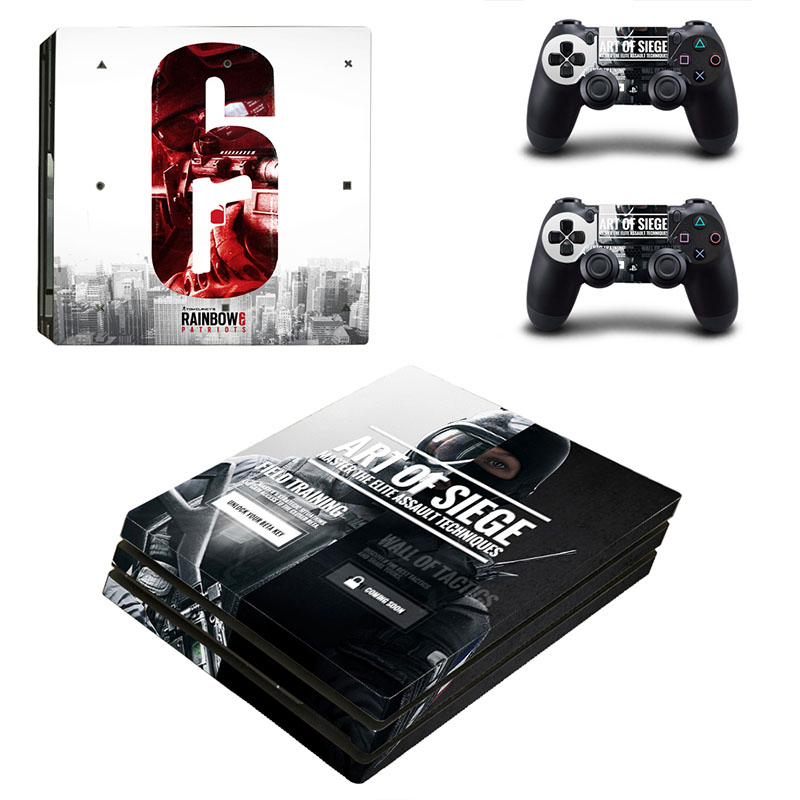 homereally ps4 pro skin classic rainbow six siege pvc sticker cover for playstation 4 pro. Black Bedroom Furniture Sets. Home Design Ideas