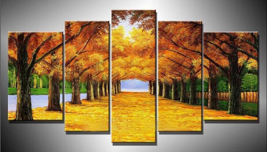 cuadros arte de la pared del rbol del otoo pintura al leo sobre lienzo pinturas by