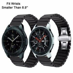 Image 2 - Ремешок керамический для Samsung Galaxy Watch 42 мм 46 мм, быстросъемный стальной браслет с застежкой бабочкой, 20 мм 22 мм