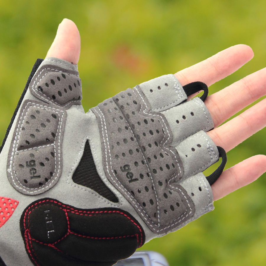 GUB Endurance Cycling Gloves Bicycle Bike Fingerless Gloves Silicone Half/Short Finger Extra Gel Gloves Double Gel-Vent Padding
