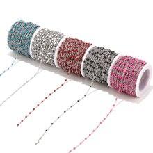 2 мм ширина 2 м Нержавеющая сталь Эмаль синий/черный/белый/красный/розовый звено Кабельные цепи для DIY ожерелье ювелирных изделий