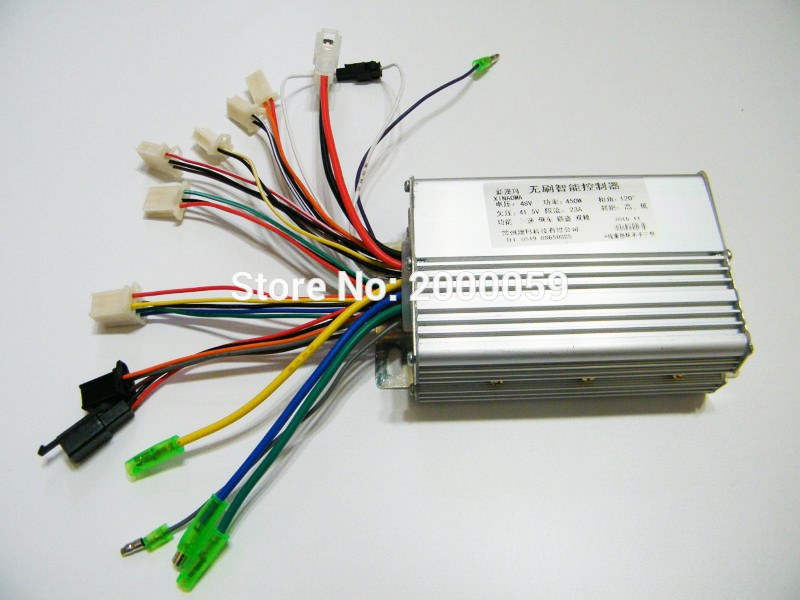 Brushless Controller 48V450W Electric Scooter E Bike 23A With Hall Sensor Fits Hub Motor