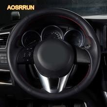 AOSRRUN автомобильные аксессуары швейная кожа ручной Руль Обложка для Mazda 6 ATENZA GT