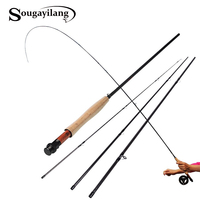Sougayilang Fly Fishing Rod 9FT 2 7M 4 Section Fly Fishing Rod Line Wt 5 6