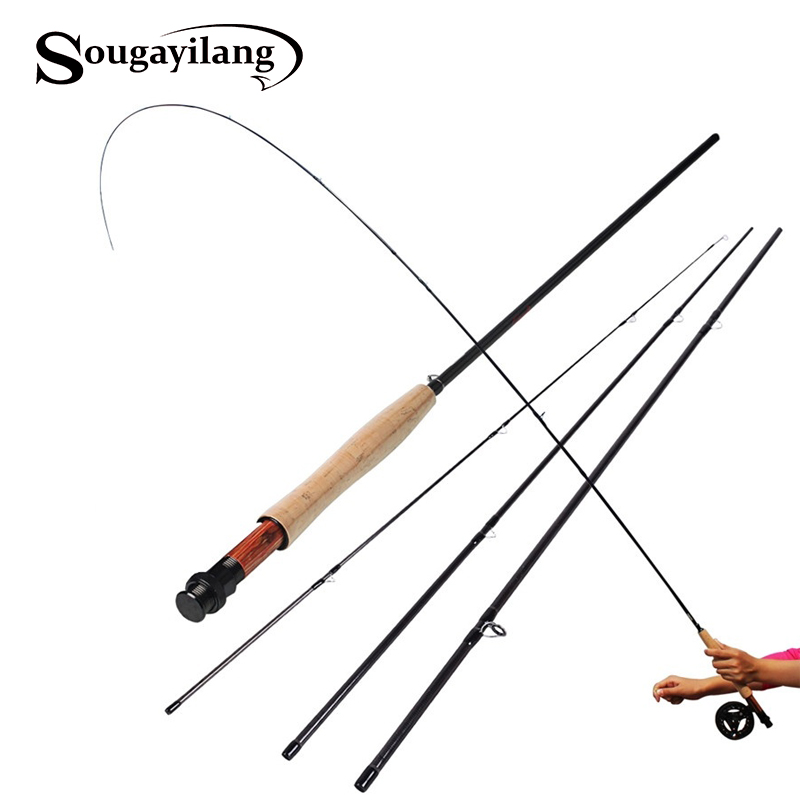 Sougayilang fly fishing rod 9ft 2 7m 4 section fly fishing for Fly fishing line