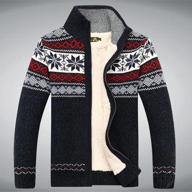 Размер S - 3XL 100% хлопок утолщаются флис свитер мужчины цветочный узор кардиган Blusa Masculina мужчины не одежда A3043
