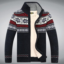 Size S -3XL 100% Cotton 2015 New Thicken Fleece Sweater Men Floral Pattern Cardigan Blusa Masculina Ment Clothing  A3043