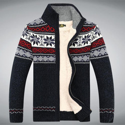 Cotton Wool 2017 Winter Sweater Thicken Fleece Men Cardigan Blusa Masculina Men's Sweatercoat Size S -3XL