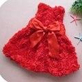 3D Flor Vestidos de Meninas Para a Festa de Casamento E Vestidos Menina Bonito Da Criança Roupas de Verão 2016 Vestido de Princesa Crianças Roupas