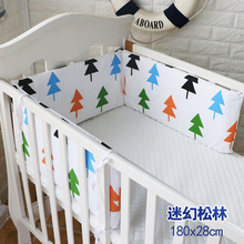 1 pc Baby Bumpers Cotton Soft Anti-Collision Baby Bedding Bumper Crib Decoration Baby Bed Bumper Bedding tree monkey  180*28cm