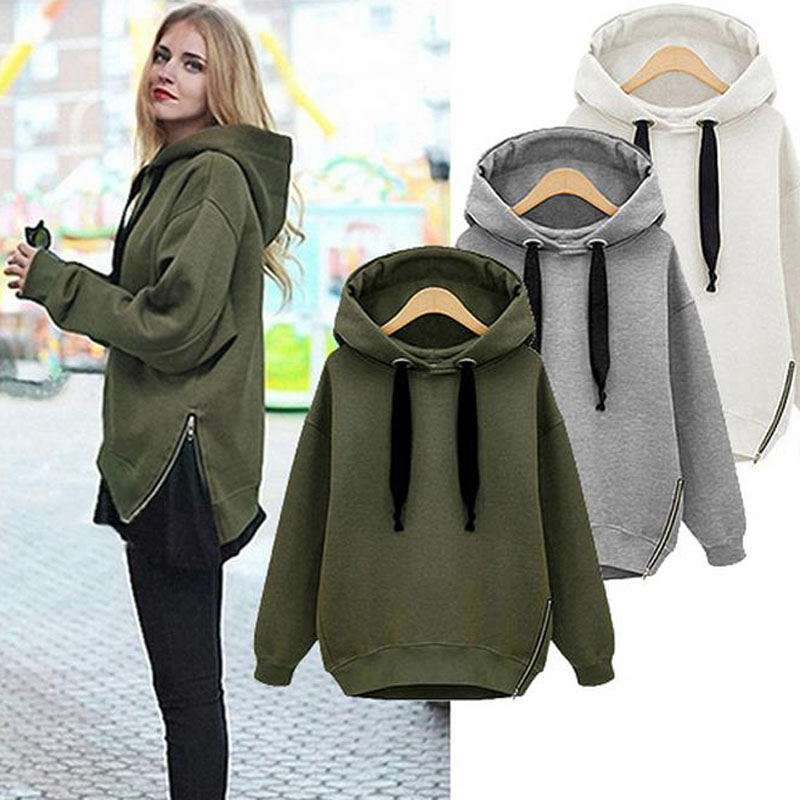 Loose Knitted Sweater Drawstring Hooded Long Sleeve green Women Cardigan Poncho Pull Femme Hiver