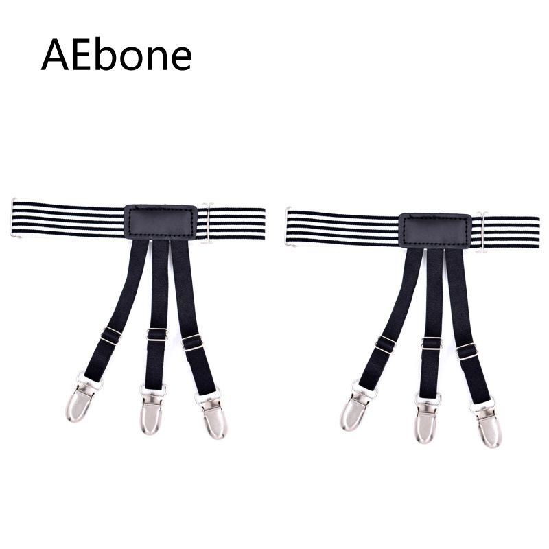 AEbone Suspensorio For Man 3 Clips Holder Shirt Garters For Men Nylon Suspenders For Shirt Sus22