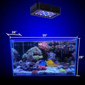 Image 5 - Lámpara Led de 140W para acuario marino, iluminación regulable para tanque acuático, control de atenuación, macetas de plantas acuáticas