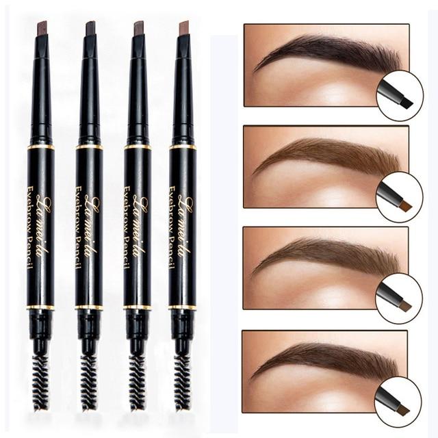 Marca nueva de cejas tinte cosmética Natural de larga duración pintura ceja del tatuaje impermeable negro marrón lápiz de cejas maquillaje