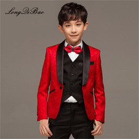 2018 children's suits boys' suits children's small suits catwalk flower costumes suits