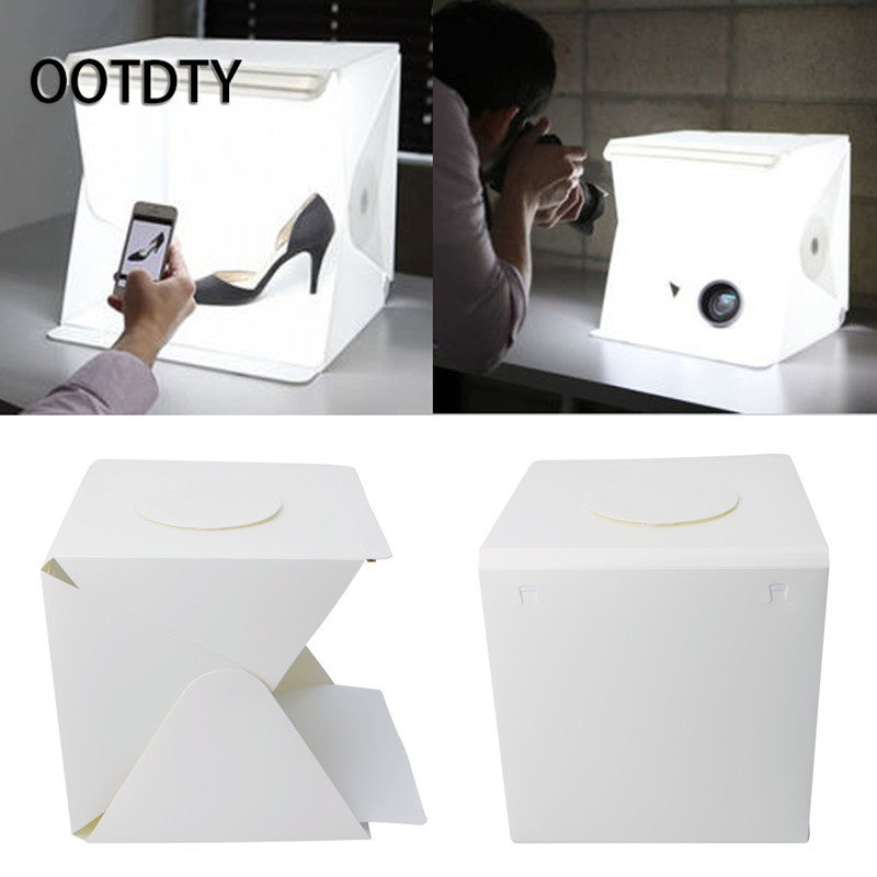 OOTDTY Tabletop Shooting Light Room Photo Studio 12 Photography Lighting Tent Kit Backdrop Cube Mini Box евро одеяло ecotex бамбук премиум облегченное 200х220 ообе