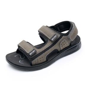 Image 4 - Apakowa Junior Boys Open Toe Three Strap Sport Sandals Kids Summer Beach Walking Water Shoes Older Teens Boy Outdoor Footwear