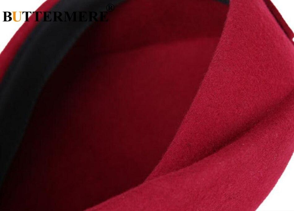 BUTTERMERE elegante sombreros para damas rojo lana sombreros de La ... b66f1124239