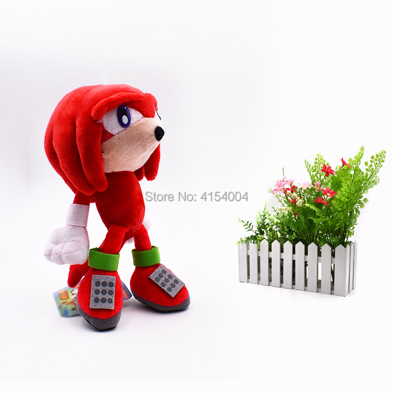 50 pcs/lot Wholesale Peluche Toy Sonic Soft Plush Doll Red Cartoon Animal Stuffed Toys Figure Dolls Gifts 20 cm