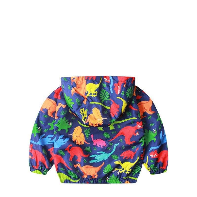 CROAL CHERIE  Cotton Jacket For Kids Boys Windbreaker Cartoon Dinosaur 2019 Autumn Children Coat For Girls Kids Clothes 80-130cm (1)
