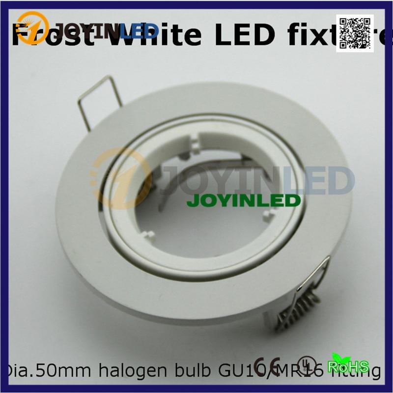 Us 24 25 6 Off Led Ceiling Lamp Holder Gu10 Mr16 Lighting Spot Light Fixture Frame Round Fixtures Aluminum White Color In