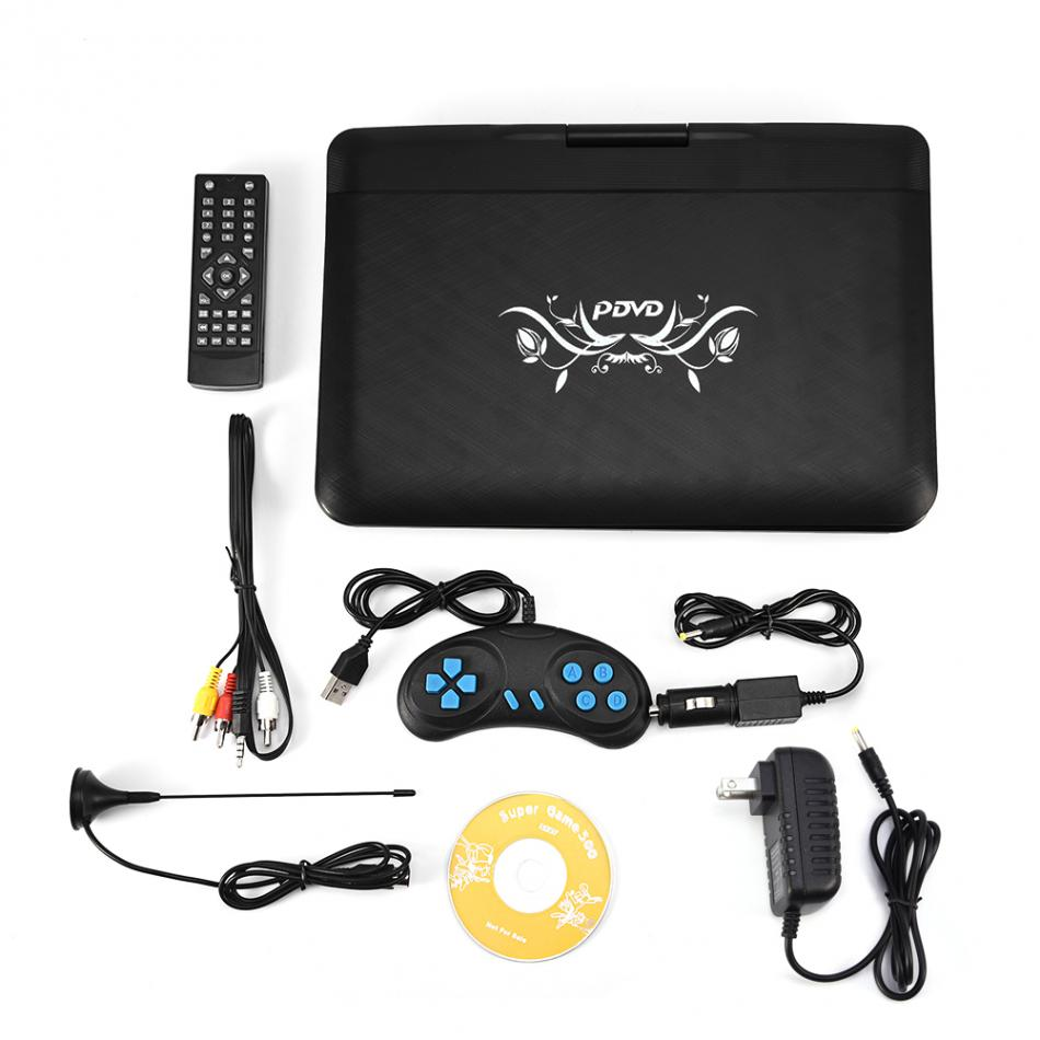 13.9inch HD TV Portable DVD Player FM radio receiver 800*480 Resolution 16:9 LCD Screen USB US Plug grafalex fm 480