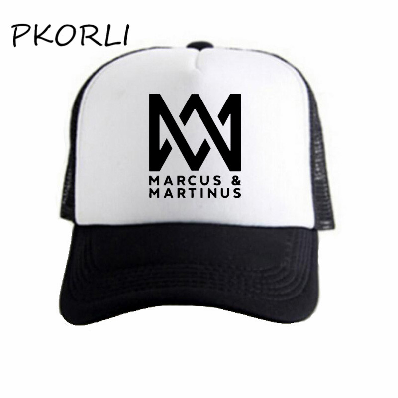 Marcus And Martinus   Baseball     Cap   Summer Unisex Harajuku Music   Caps   Letters Printed Mesh Net Trucker Sun Hats Casquette Homme