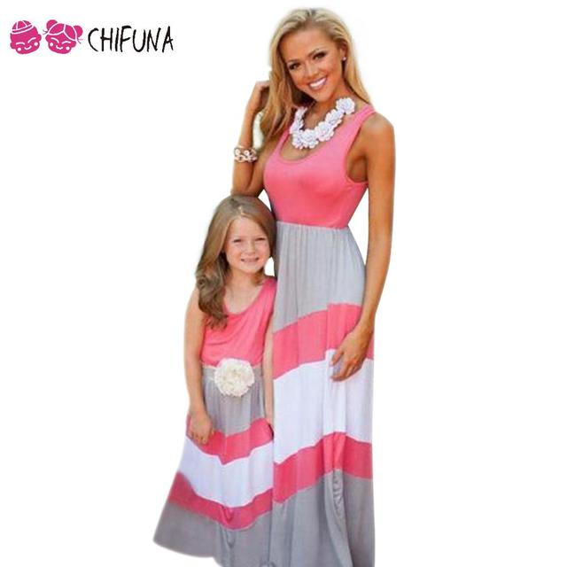 c5f60f19af685 chifuna New Matching Mother Daughter Dresses Clothes Bohemian ...