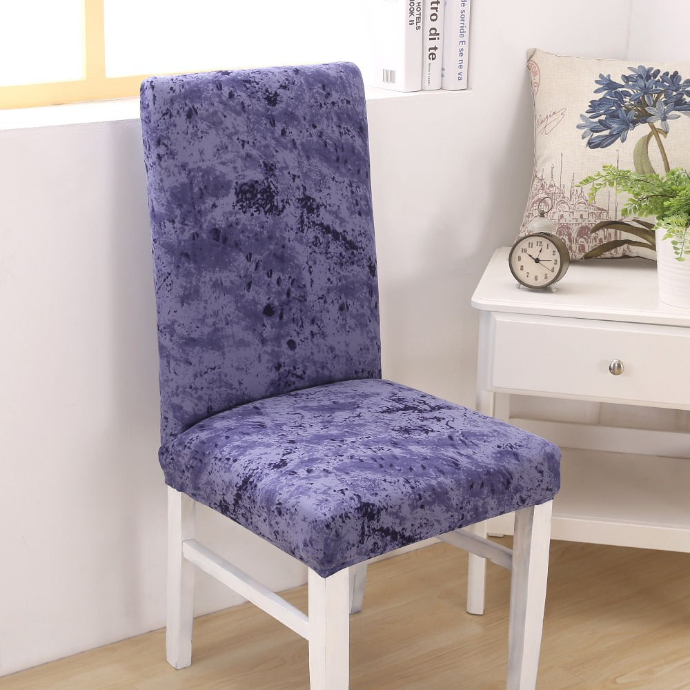 Comwarm Solid Color Dining Room Chair Cover Spandex