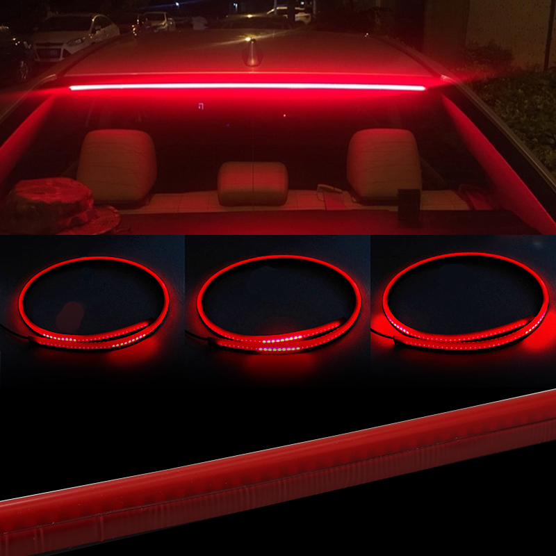 Flowing Flexible Red Car Additional LED Brake Light Multifunction High Mount Reverse Stop Signal Warning Lamp