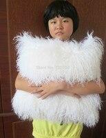 Genuine Mongolian Pilow Tibet Lamb Pillow Fur Pillow Floor Cushion 22 X22