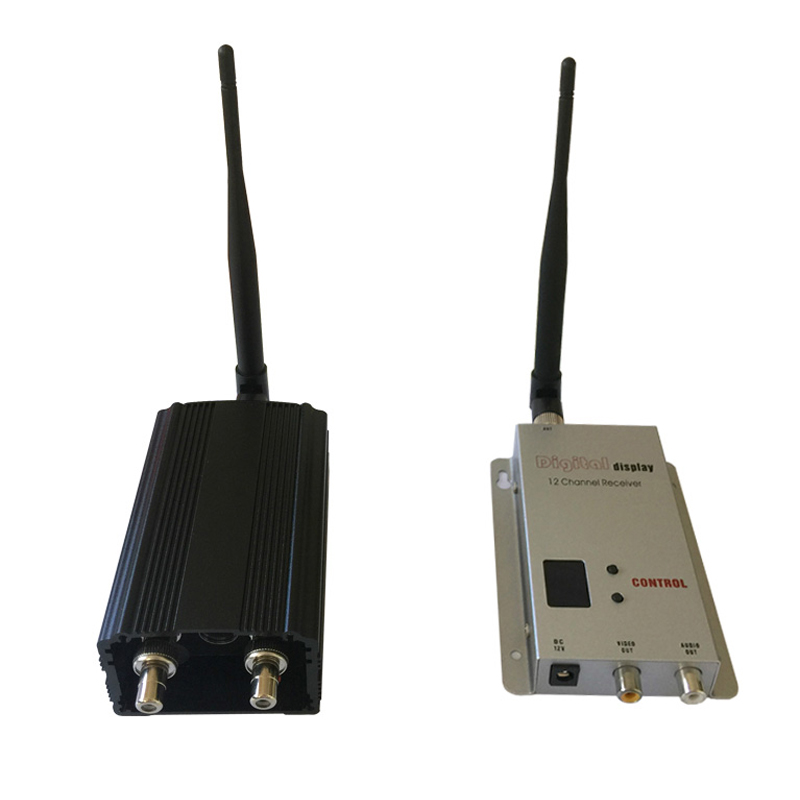 Long Range FPV Video Link 20km LOS Wireless Video Transmitter and Receiver 1200Mhz Video Sender 8 Channels