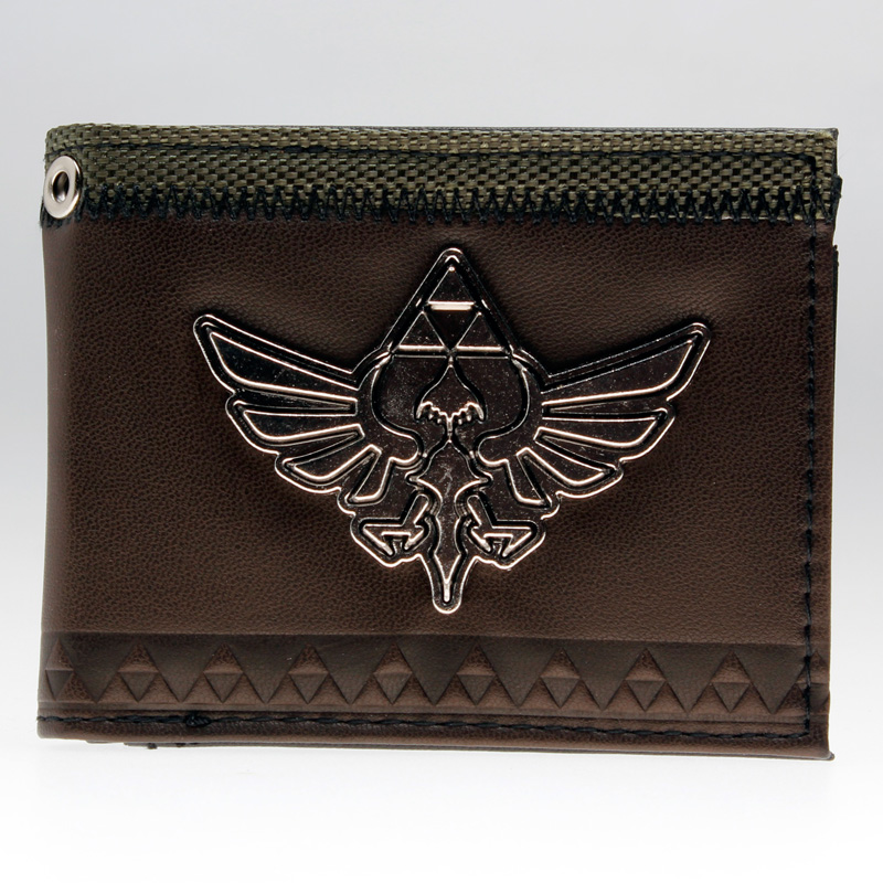 The Legend of Zelda wallet   DFT-1922 zelda wallet bifold link faux leather dft 1857