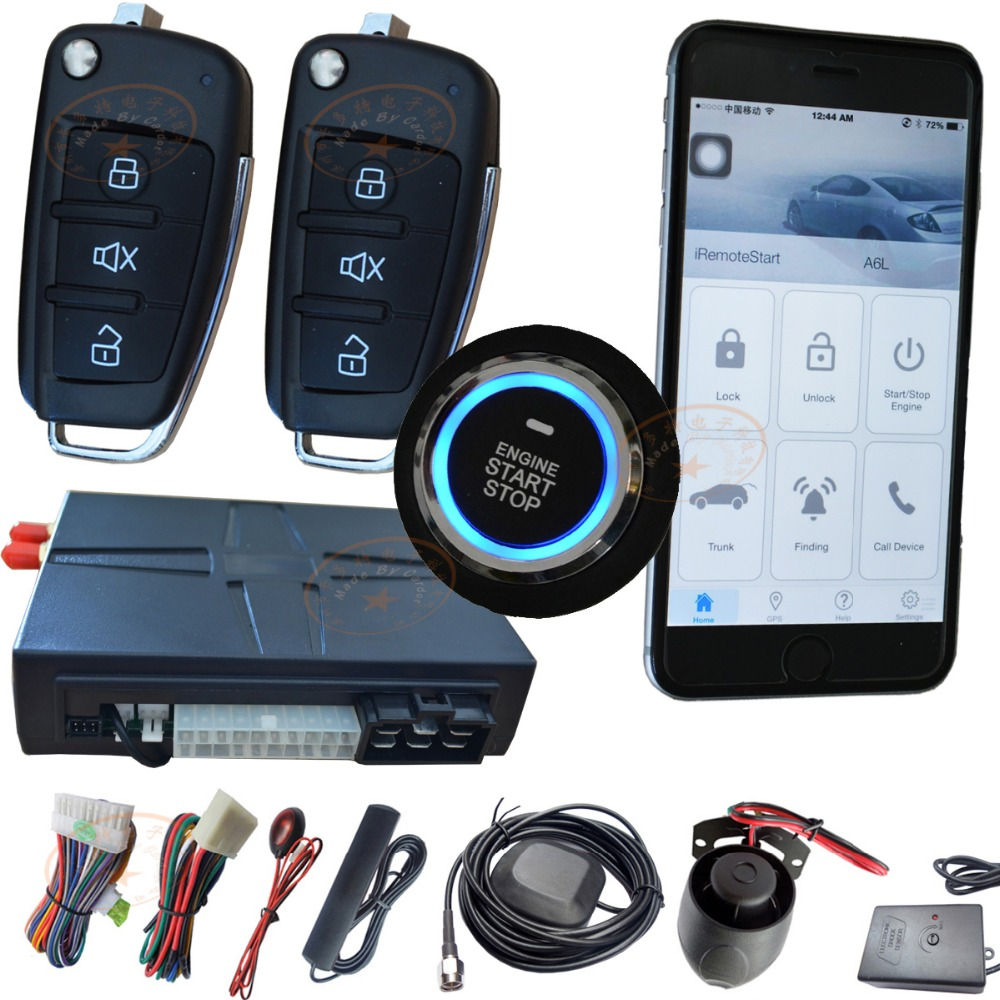 Cardot Gsm Car Alarm With Gps Tracker Passive Keyless Lock Or Unlock Mobile App Support Free Tracking Platformgoogle Map Track